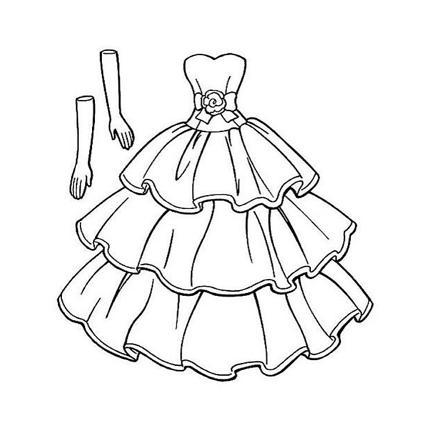 dessin robe princesse