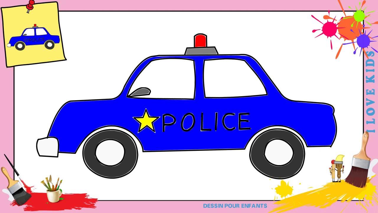 dessin voiture police