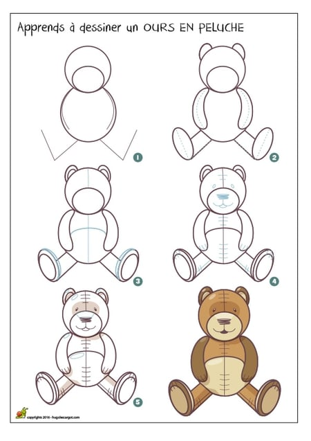 dessiner un ours en peluche