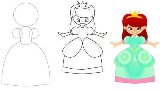 dessiner une princesse