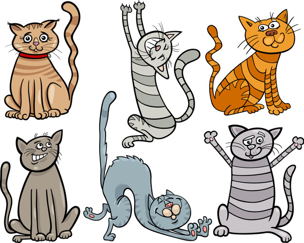 dessins chats rigolos