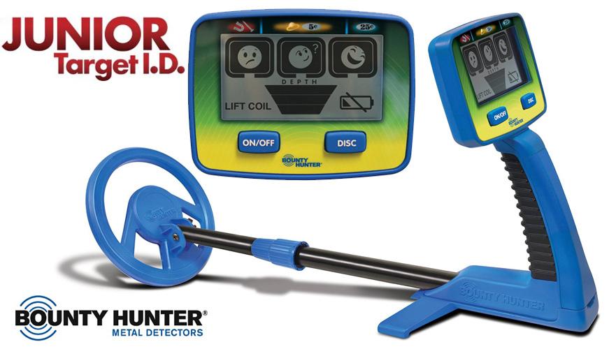 HUKOER Détecteur de métaux portatif léger pour enfants profondeur de détectio...