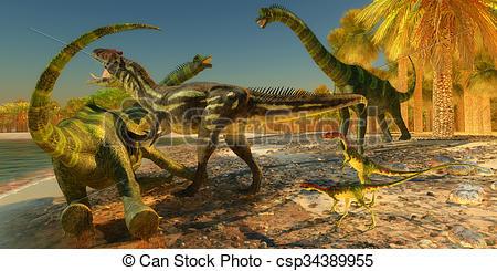 dinosaure attaque