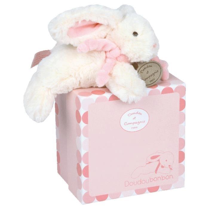 doudou et compagnie lapin bonbon rose