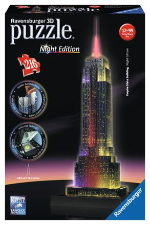 empire state building night edition 3d puzzle