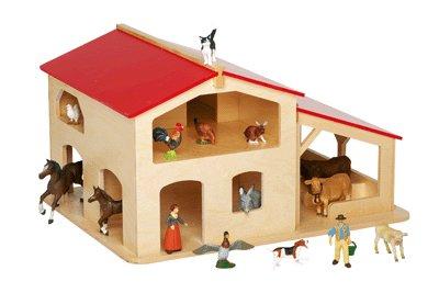 ferme en bois jouet