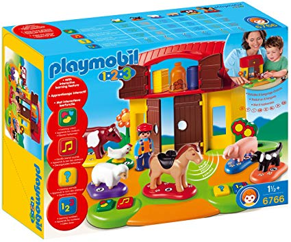 ferme interactive playmobil 123