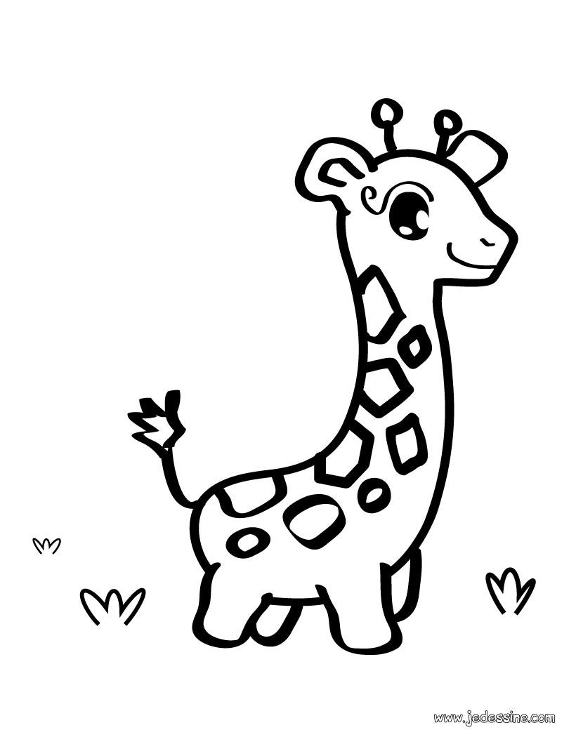 girafe dessin facile