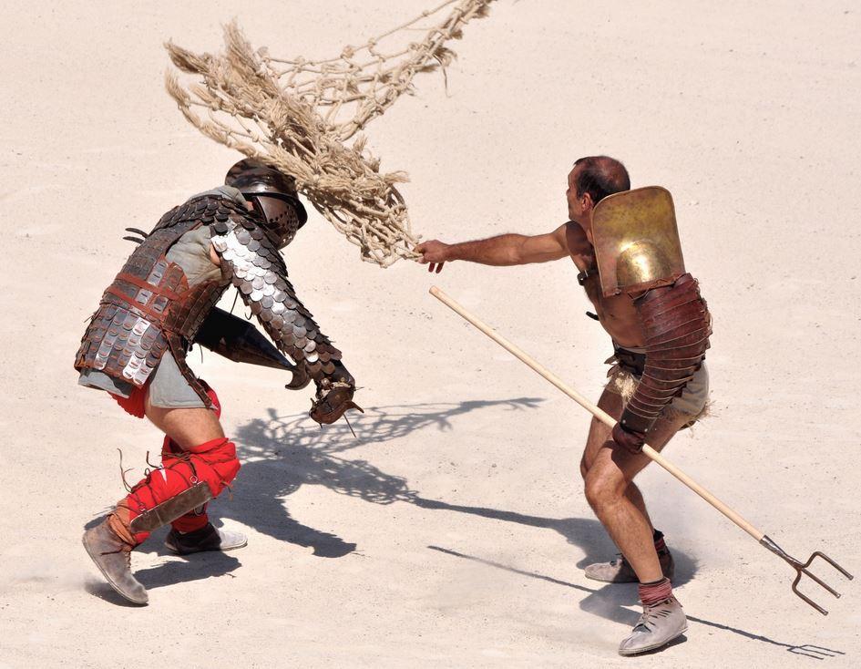 gladiateur à filet