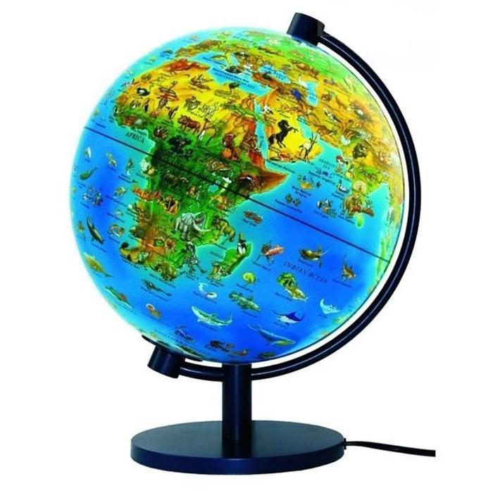 globe terrestre animaux