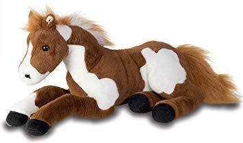 grand cheval en peluche