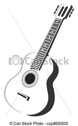 guitare acoustique dessin
