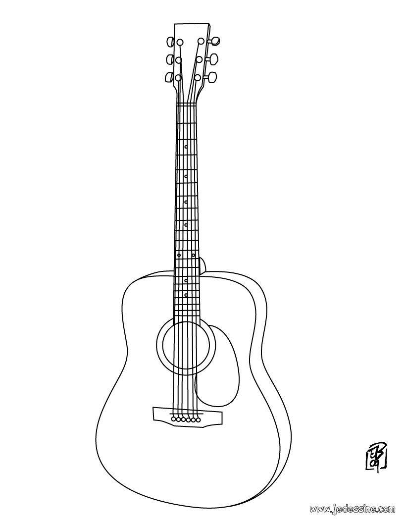 guitare coloriage