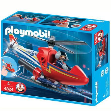 hélicoptère de pompier playmobil