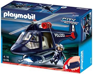 hélicoptère playmobil police