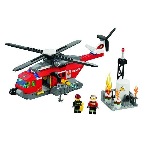 helicoptere pompier lego city
