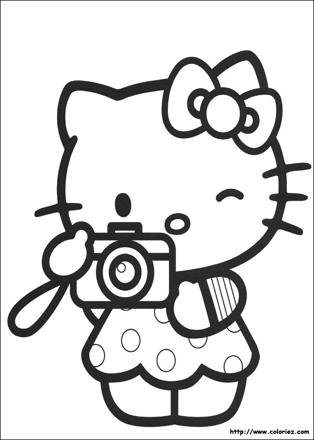 hello kitty à dessiner