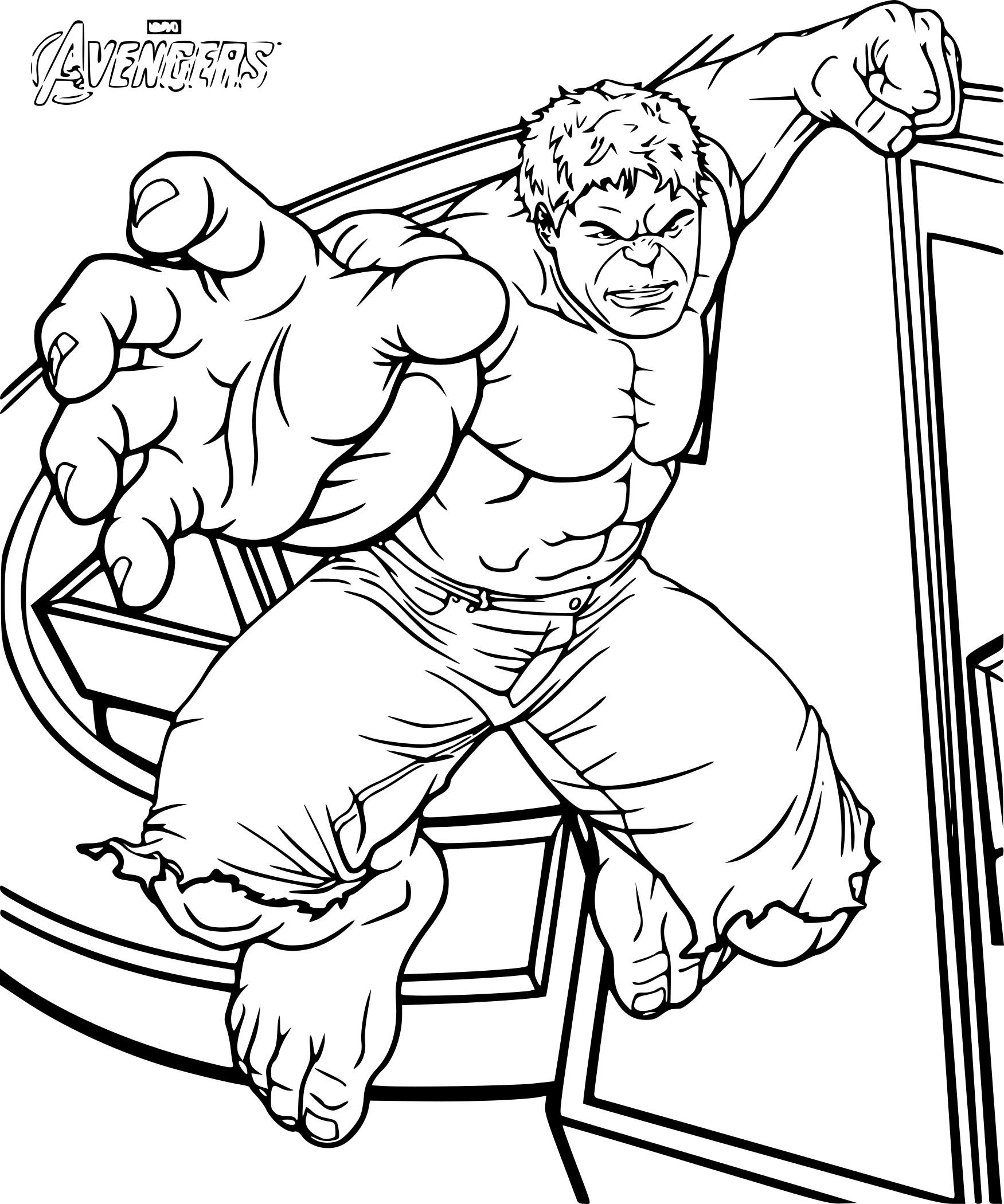 hulk coloriage