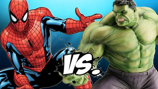 hulk contre spiderman
