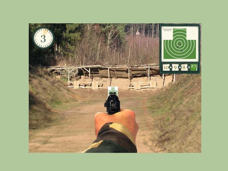 jeu de tir au pistolet sur cible