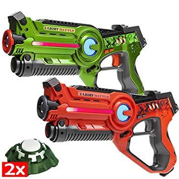 jeu pistolet laser avec cible