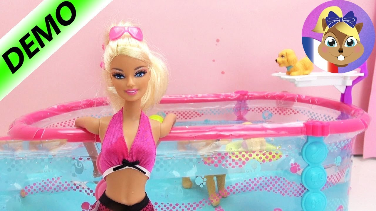 jeux de barbie a la piscine