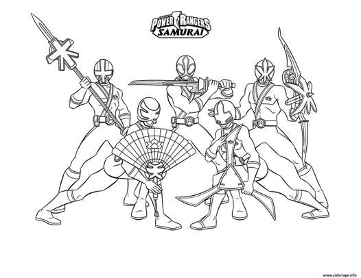 jeux de coloriage de power rangers samurai