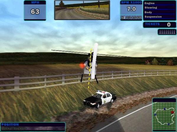 jeux de hélicoptère de police