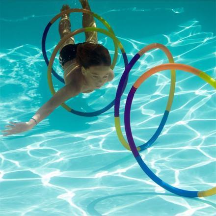 jeux de nager dans la piscine