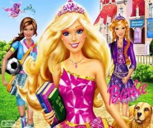 jeux de princesse barbie a l ecole