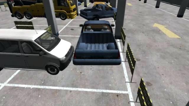 jeux de voiture a garer dans un garage de maison