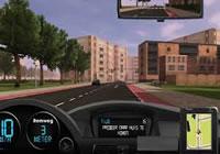 jeux de voiture en ville avec des feux rouge