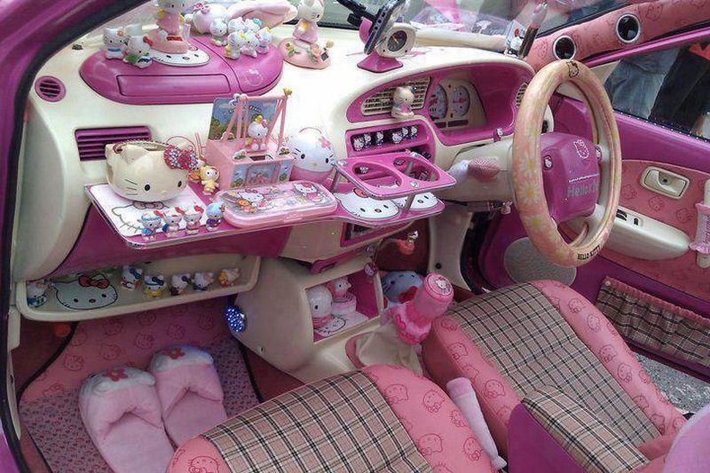 jeux de voiture hello kitty