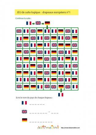 jeux drapeaux europe