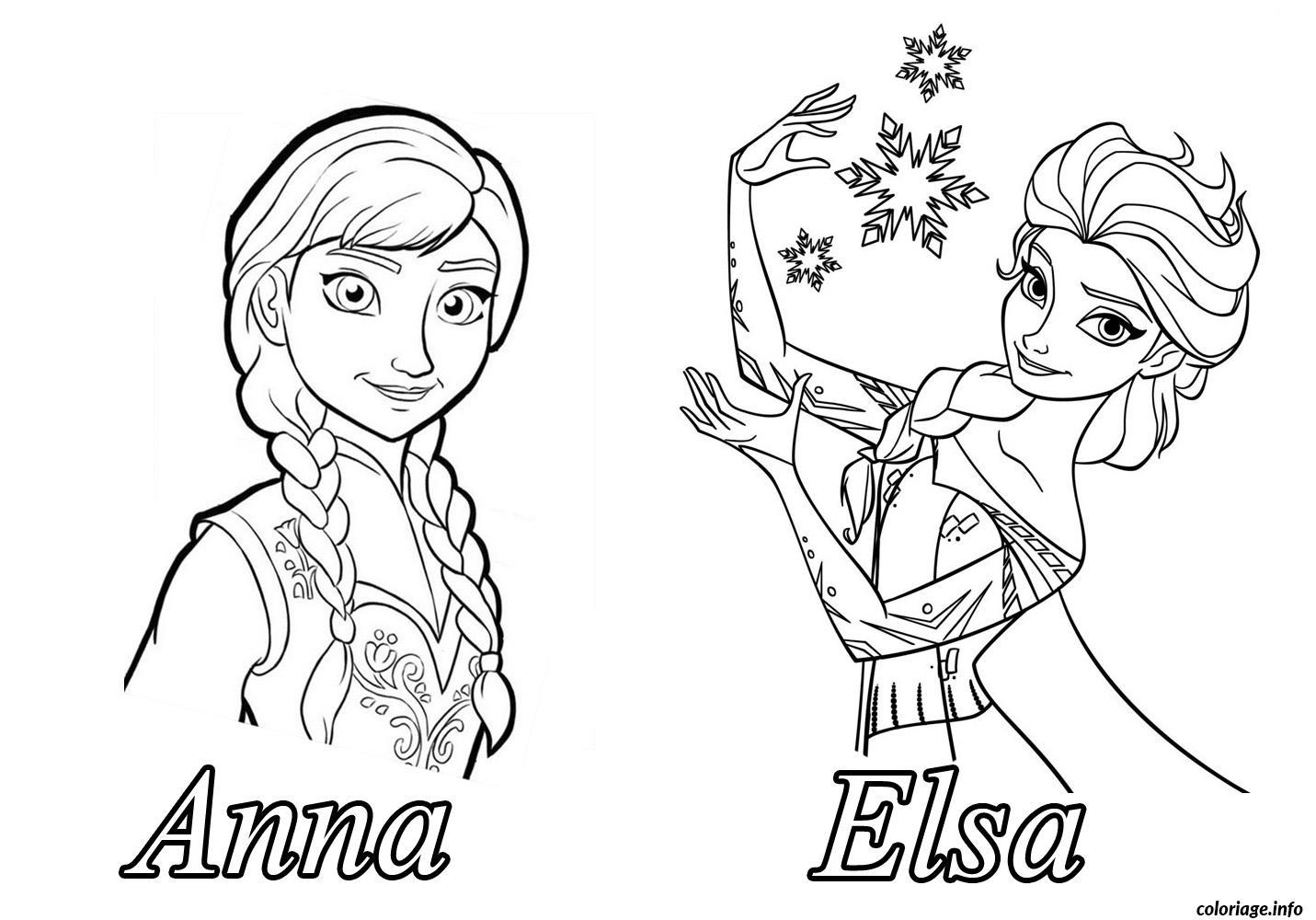 la reine des neiges dessin a colorier