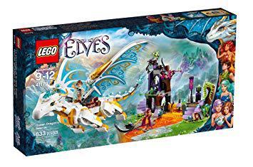lego elves dragon blanc