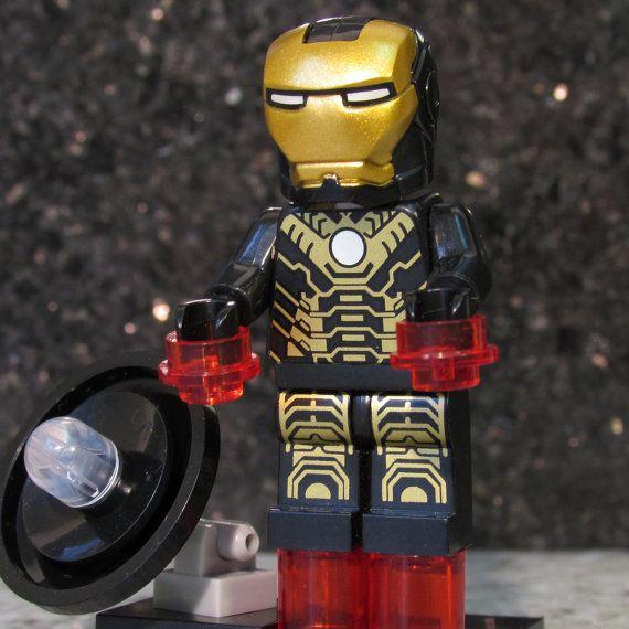 lego iron man black