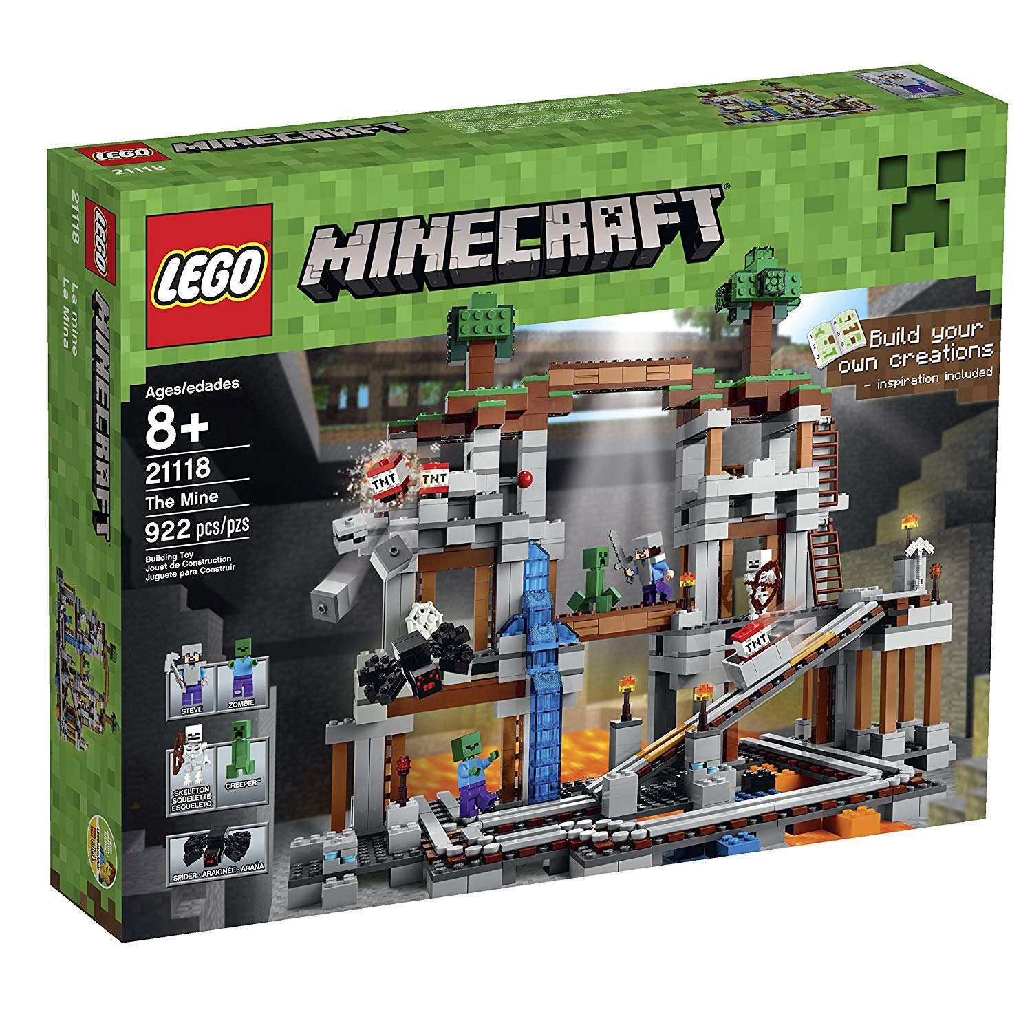 lego minecraft la mine