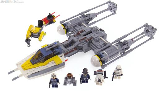 lego star wars y wing fighter