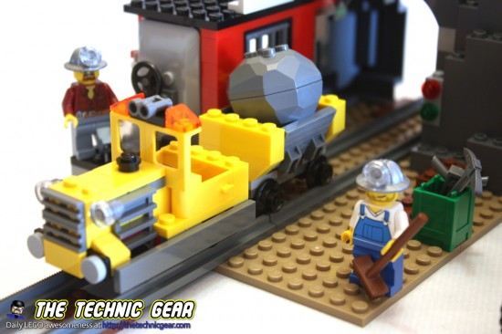 lego train de la mine