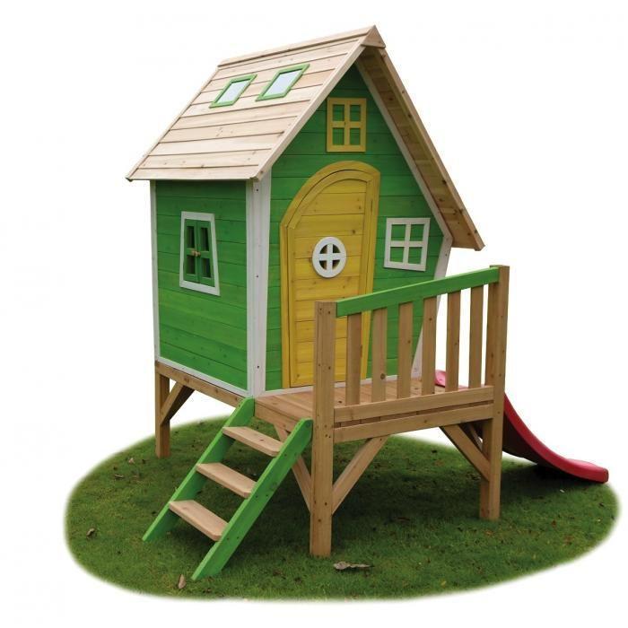 maison enfant avec toboggan
