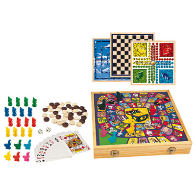 mallette de jeux de société en bois