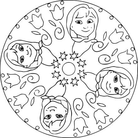 mandala reine des neiges