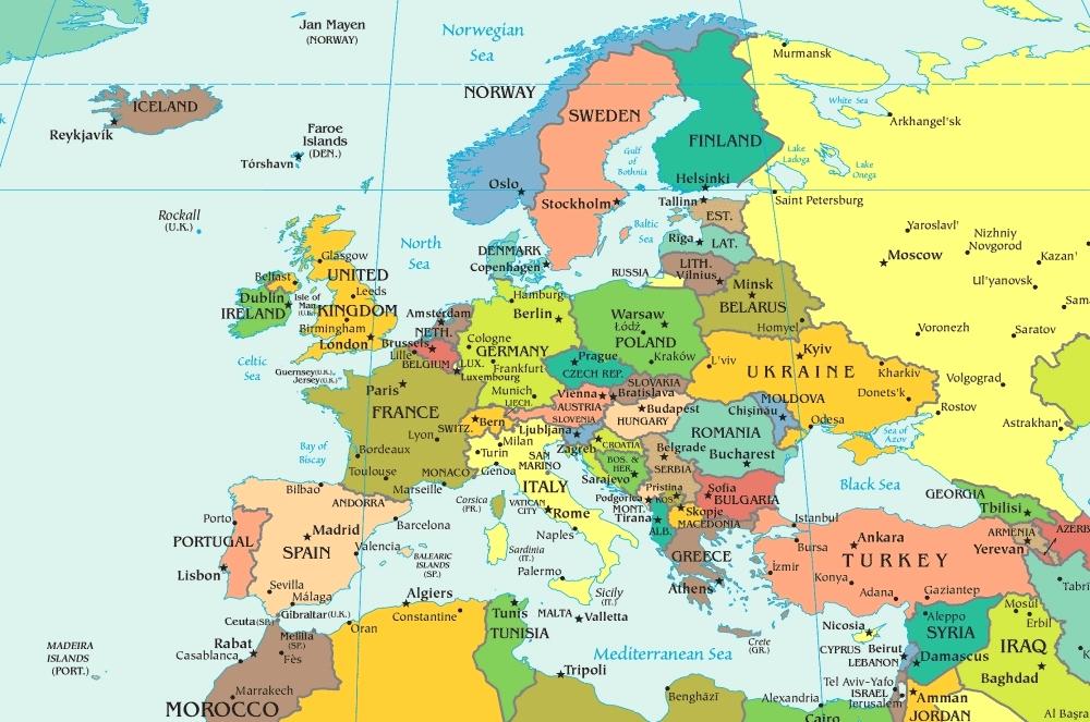 mappemonde europe
