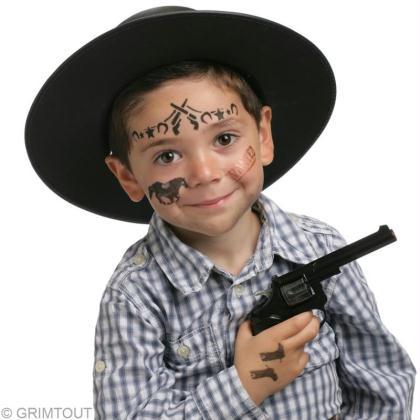 maquillage cowboy garcon
