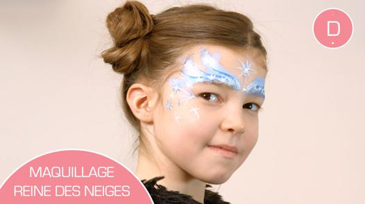 maquillage la reine des neiges