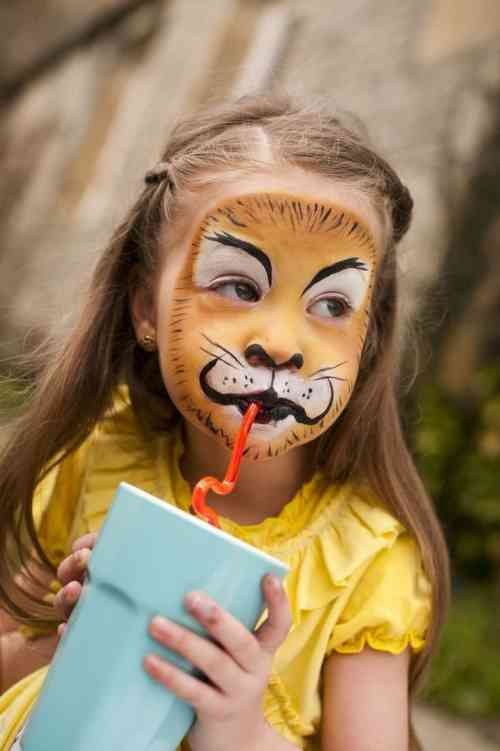maquillage lion enfant
