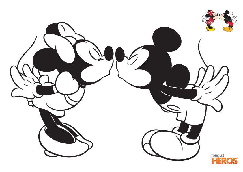 mickey et minnie dessin