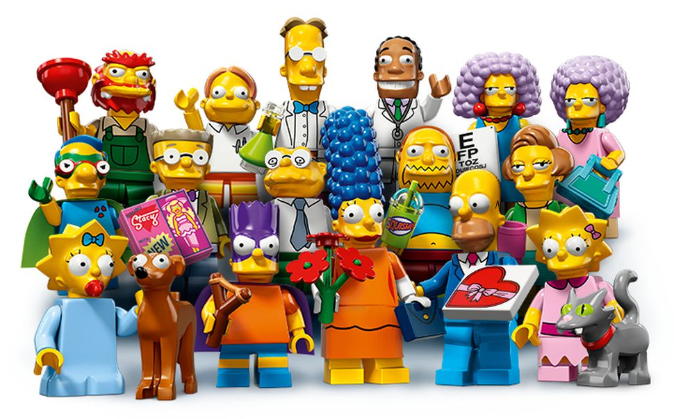 mini figurine lego simpson