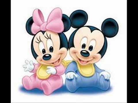 minnie et mickey bébé